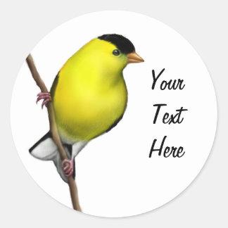 Customizable Male American Goldfinch Sticker