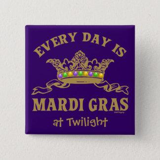 Customizable Mardi Gras 2 Inch Square Button