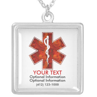 Customizable Medical   Necklace