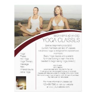 Customizable meditation Yoga class flyers