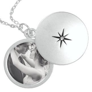 Customizable Medium Sterling Silver Round Locket
