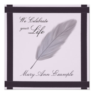 Customizable Memorial / Wake / Living Funeral Card