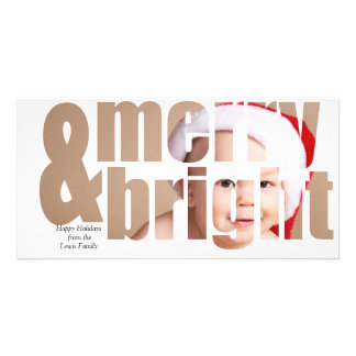 Customizable Merry & Bright Holiday Photo Card