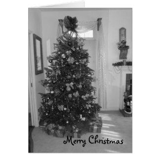Customizable Merry Christmas Tree Card