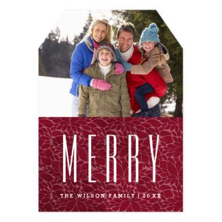 "Customizable Merry Photo Card Template 5"" X 7"" Invitation Card"