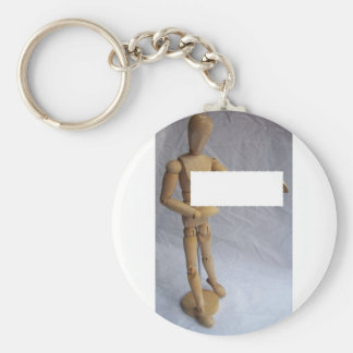 Customizable Message Artist Mannequin Keychain