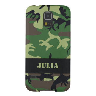 Customizable Military Camo Case For Galaxy S5