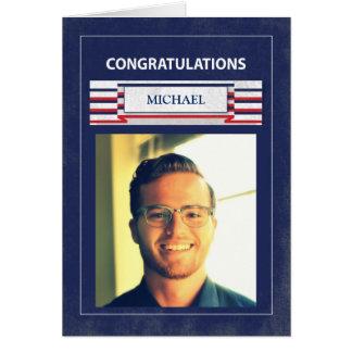 Customizable Military Graduation Basic Training Card
