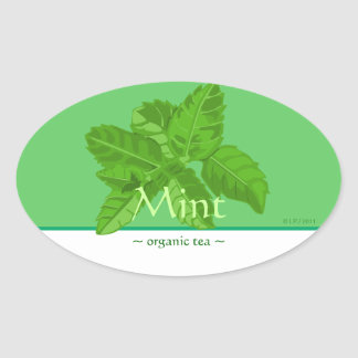 Customizable Mint Oval Sticker