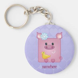Customizable: Miss Piggy Basic Round Button Keychain