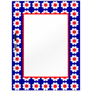 Customizable Mod Flower Power Dry Erase Board