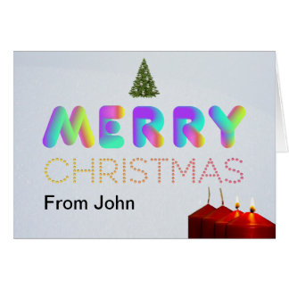 Customizable, Modern & Colorful Christmas card