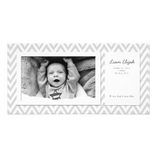 Customizable Modern Photo Birth Announcement Personalized Photo Card