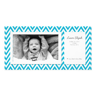 Customizable Modern Photo Birth Announcement Photo Card
