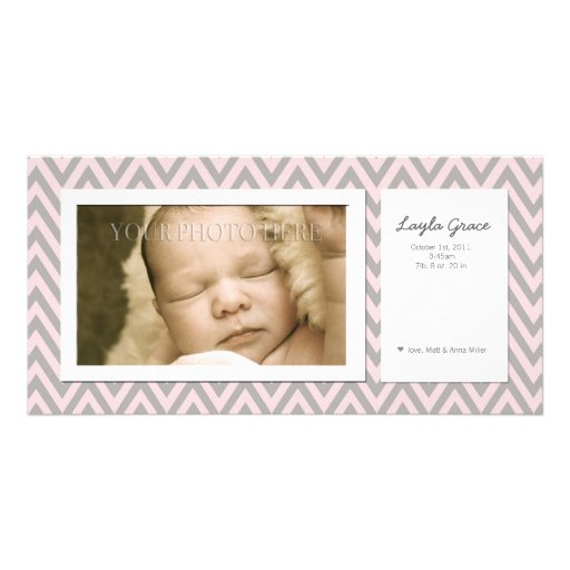 Customizable Modern Photo Birth Announcement Picture Card