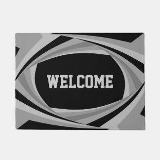 Customizable Modern Stylish Black Silver Pattern Doormat
