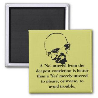 Customizable Mohandas Gandhi Quote Magnet
