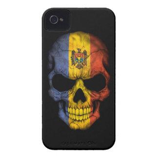 Customizable Moldovan Flag Skull iPhone 4 Cover