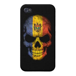 Customizable Moldovan Flag Skull iPhone 4/4S Covers