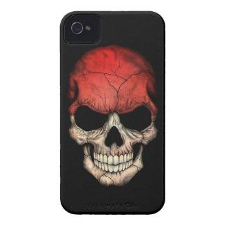 Customizable Monaco Flag Skull Case-Mate iPhone 4 Case