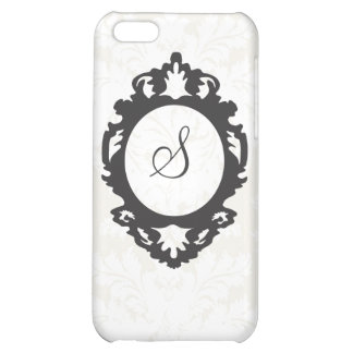 Customizable Monogram Damask i Cover For iPhone 5C
