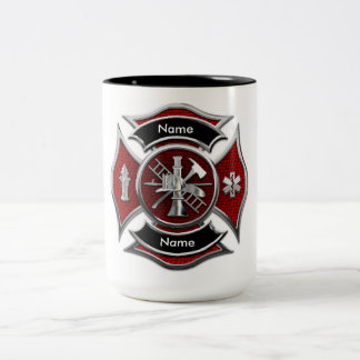 """CUSTOMIZABLE Monogram Firefighter"" MUG"