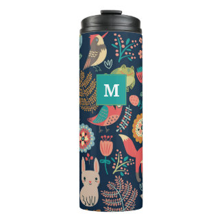 Customizable Monogram Forest style Thermal Tumbler