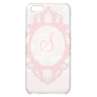 Customizable Monogram Pink Damask iPhone Case Cover For iPhone 5C