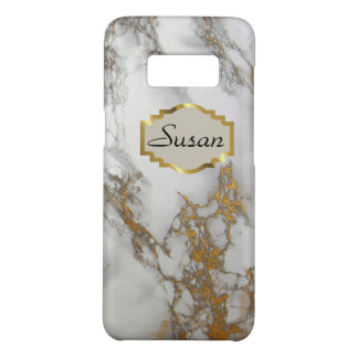 Customizable monogram Samsung case, marble gold Case-Mate Samsung Galaxy S8 Case