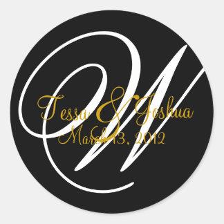 Customizable Monogram Wedding Initial Seal Sticker