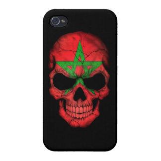 Customizable Moroccan Flag Skull iPhone 4/4S Case