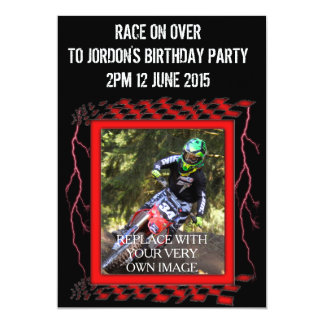 Customizable Motocross Card