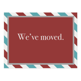 Customizable Moving Announcement // Airmail Red Postcard