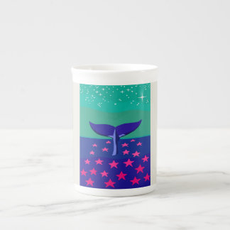 Customizable mug with beautiful picture of whale