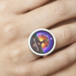 Customizable multi colored tree of life photo rings