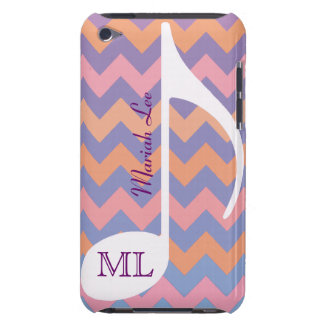 customizable musical note & chevron iPod Case-Mate case