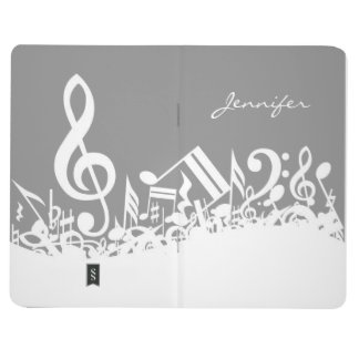 Customizable Musical Notes Journal