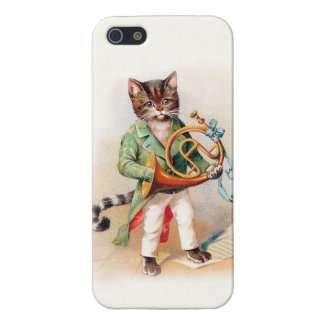 Customizable Musical Victorian Cat iphone5 case iPhone 5/5S Covers