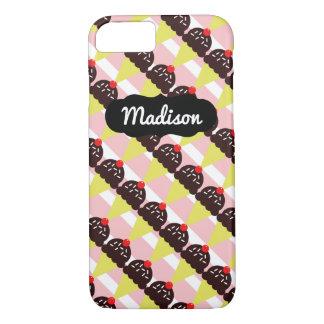 Customizable Name Chocolate Ice Cream iPhone 7 iPhone 7 Case