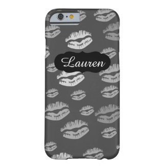 Customizable Name Kiss Print Makeup iPhone 6/6s Barely There iPhone 6 Case