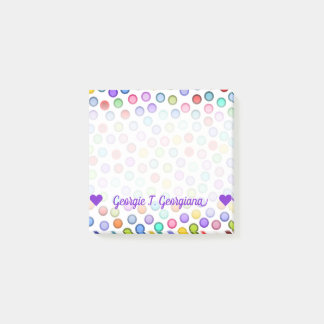 Customizable Name; Many Colorful Circles Notes