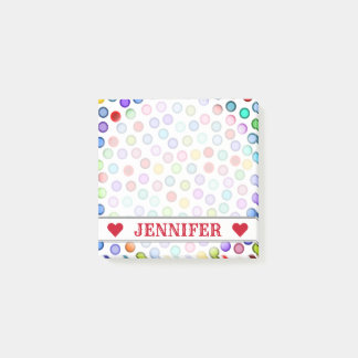Customizable Name - Many Colorful Circles Notes
