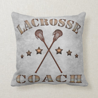Customizable Name & Number Lacrosse Coach Pillow