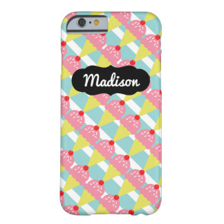 Customizable Name Strawberry Ice Cream iPhone 6/6s Barely There iPhone 6 Case