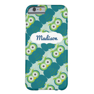 Customizable Name Turquoise Owl iPhone 6/6s Case