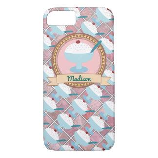 Customizable Name Vanilla Ice Cream Bowl iPhone 7 iPhone 7 Case