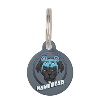 Customizable NamiBear Pit Bull Dog Illustration Pet Tags