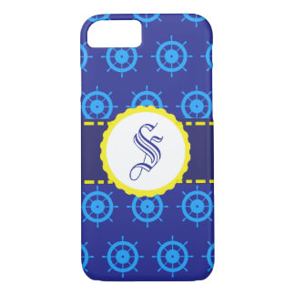 Customizable Nautical Blue Helm iPhone Case