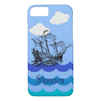 Customizable Nautical Pirate Ship iPhone Case