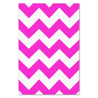 Customizable Neon Pink Zigzag Pattern Tissue Paper